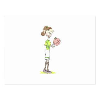 Joueur de base-ball cartes postales