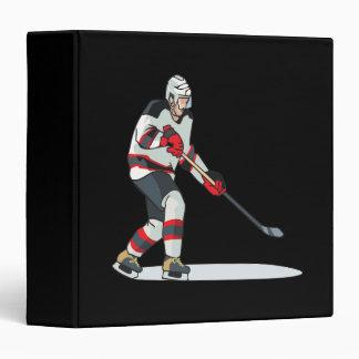 Joueur de hockey classeur vinyle