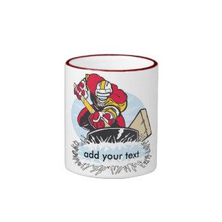 Joueur de hockey fait sur commande mug ringer