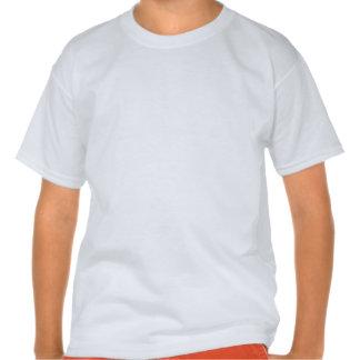 Joueur de hockey ; Rayures noires et gris-foncé T-shirts