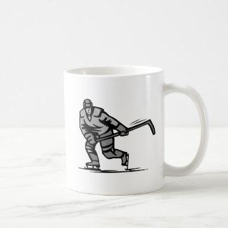 Joueur de hockey tasse