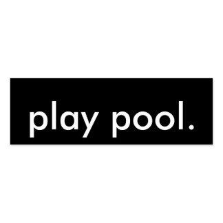 joueur de piscine modèle de carte de visite