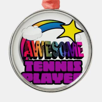 Joueur de tennis impressionnant d'arc-en-ciel décoration de noël