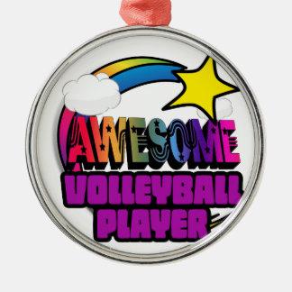 Joueur de volleyball impressionnant d'arc-en-ciel décorations de noël