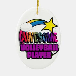 Joueur de volleyball impressionnant d'arc-en-ciel décoration pour sapin de noël