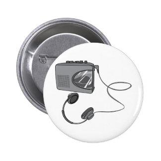 Joueur portatif d enregistreur à cassettes badges
