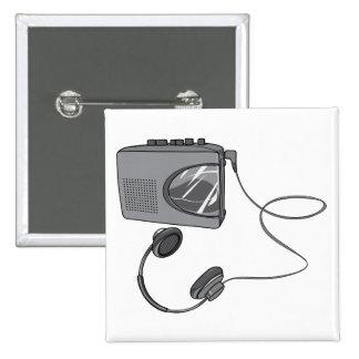 Joueur portatif d enregistreur à cassettes pin's