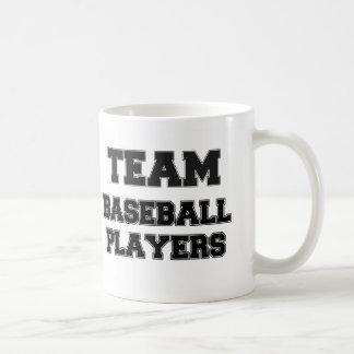 Joueurs de baseball d'équipe mugs à café