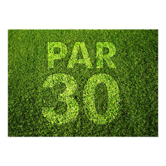 Jouez au golf la 30ème fête d anniversaire faire-parts
