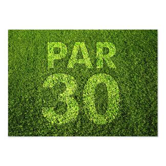 Jouez au golf la 30ème fête d'anniversaire carton d'invitation  12,7 cm x 17,78 cm