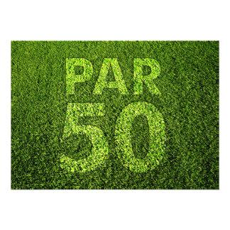 Jouez au golf la cinquantième fête d anniversaire faire-parts