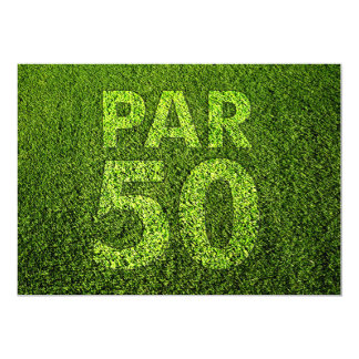 Jouez au golf la cinquantième fête d'anniversaire carton d'invitation  12,7 cm x 17,78 cm