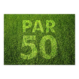 Jouez au golf la cinquantième fête d'anniversaire faire-parts