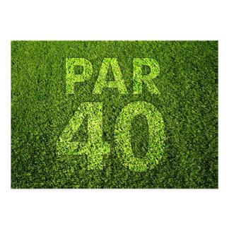 Jouez au golf la quarantième fête d anniversaire invitation