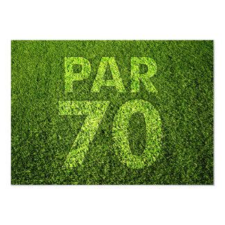 Jouez au golf la soixante-dixième fête carton d'invitation  12,7 cm x 17,78 cm