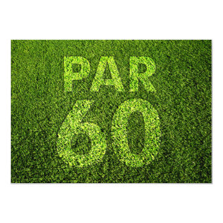 Jouez au golf la soixantième fête d'anniversaire carton d'invitation  12,7 cm x 17,78 cm