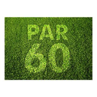 Jouez au golf la soixantième fête d'anniversaire invitations