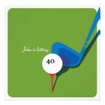 Jouez au golf le quarantième anniversaire - en bal invitations