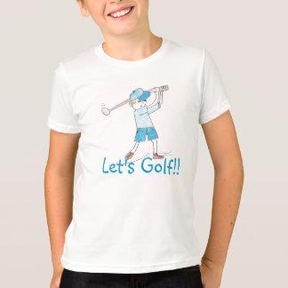 Jouons au golf ! ! Chemise de garçon T-shirt