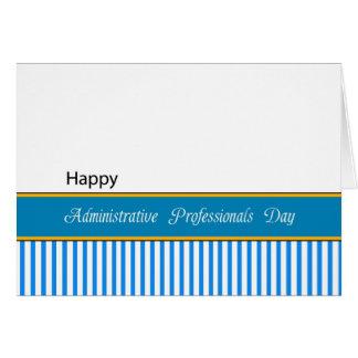 Jour administratif de professionnels carte de vœux