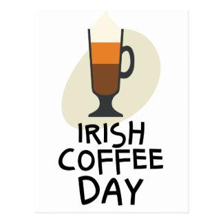 Jour de café irlandais - jour d'appréciation carte postale