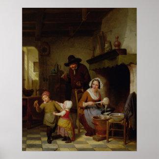 Jour de crêpe, 1845 affiches