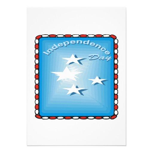 Jour de la Déclaration d'Indépendance Cartons D'invitation