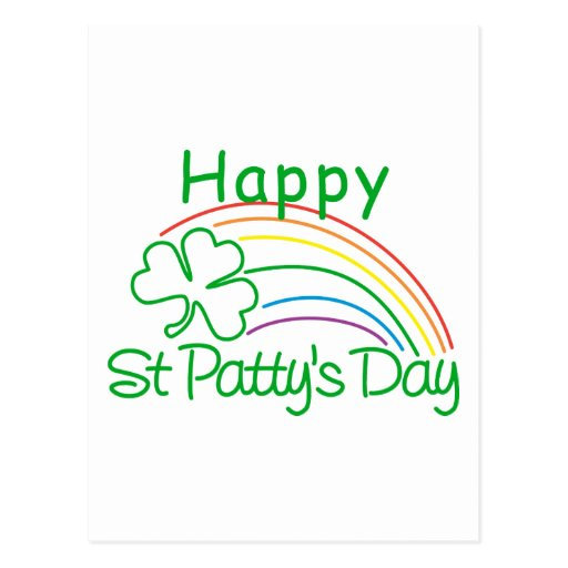 Jour de la St Patrick heureux Carte Postale
