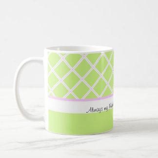 Jour de mère toujours mon de mère et d'ami attaque mug blanc