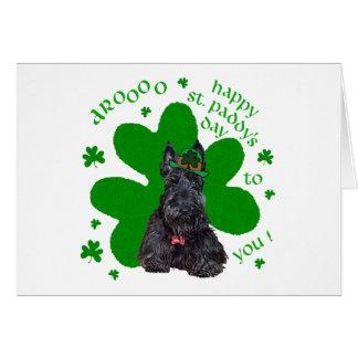 Jour de St Paddys de Terrier d écossais Carte De Vœux