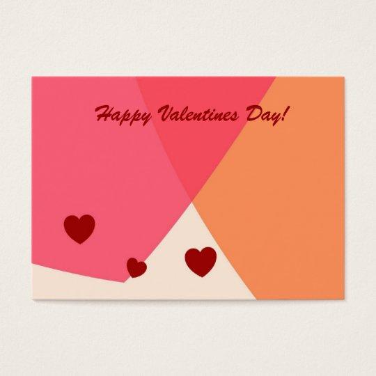 Jour de Valentines heureux ! Carte de