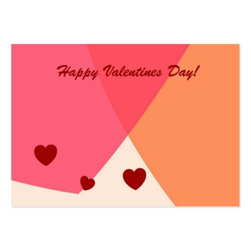 Jour de Valentines heureux ! Carte de salutation/p Modèle De Carte De Visite