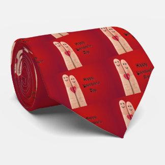 Jour de Valentines heureux de doigts Cravate