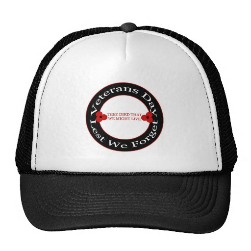 Jour de vétérans - chapeau casquettes de camionneur