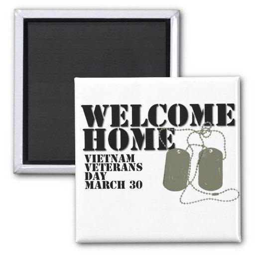 Jour des anciens combattants à la maison bienvenu  aimant