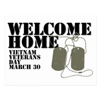 Jour des anciens combattants à la maison bienvenu cartes postales