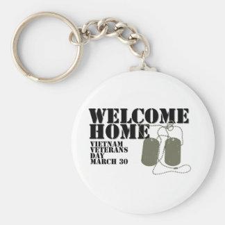 Jour des anciens combattants à la maison bienvenu  porte-clé rond