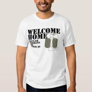 Jour des anciens combattants à la maison bienvenu t shirts
