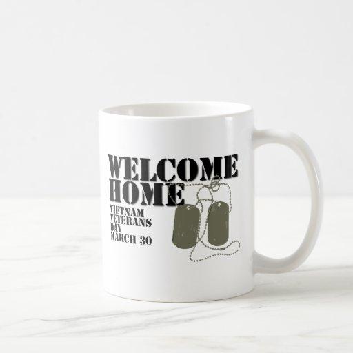 Jour des anciens combattants à la maison bienvenu  tasse à café