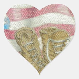 jour des anciens combattants sticker cœur