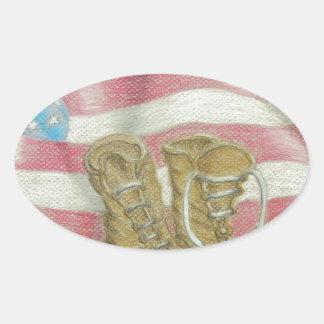 jour des anciens combattants sticker ovale