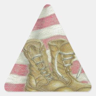 jour des anciens combattants sticker triangulaire