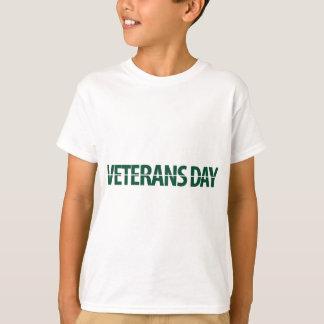 jour des anciens combattants vert-foncé tee-shirts