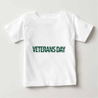 jour des anciens combattants vert-foncé tshirt