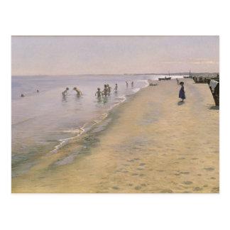 Jour d'été à la plage du sud de Skagen, 1884 Cartes Postales