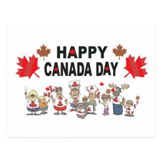 Jour heureux du Canada Carte Postale