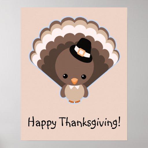 Jour mignon de thanksgiving de la Turquie Posters