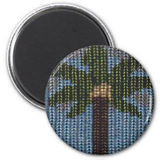 Jour perlé de paume magnet rond 8 cm