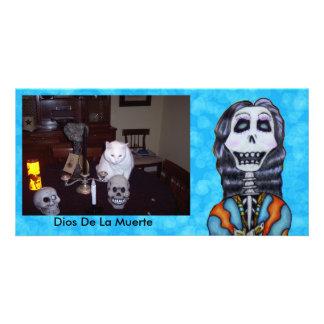 Jour personnalisé de Madame squelettique joyeuse Cartes De Vœux Avec Photo