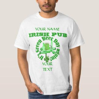 Jour St Patrick vert de bière T-shirt